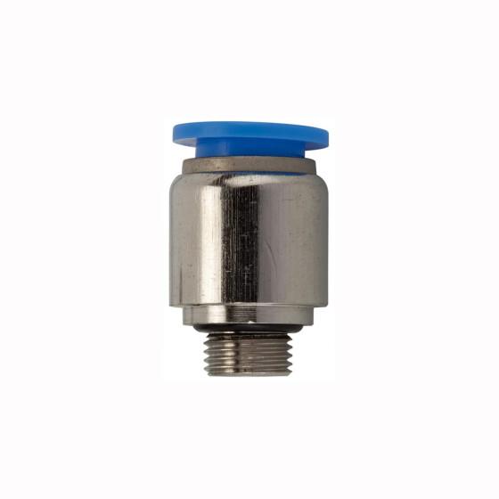 G3//8-12mm BLAUE SERIE Gerader Aufschraubsteckverbinder zyl