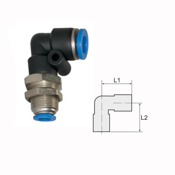 T Stück Verbinder Steckverbindung Pneumatik Kupplung für PU PA Rohr 8 10 12 mm