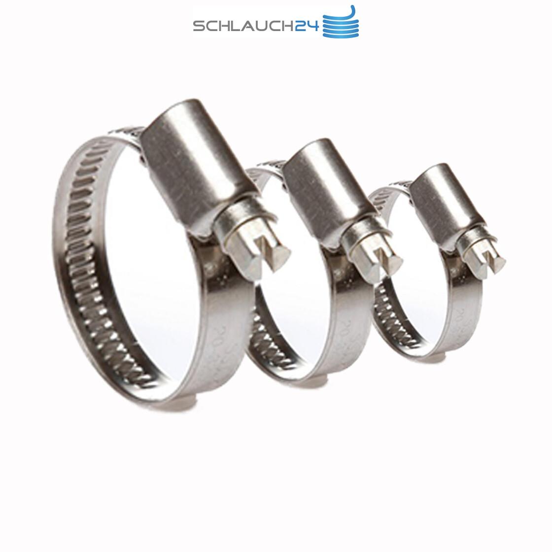 """10 Stück 35-50mm Edelstahl-Schlauchschelle 12mm W4 für 1"""" und 1 1//2"""" Schlauch"""