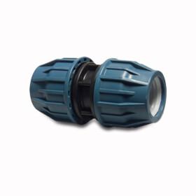 Typ Jason DVGW zugelassen PP-Klemmkupplung -reduziert für PE-Rohr